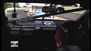 Jamie Whincup incredible spin recovery - 2012 Tasmania