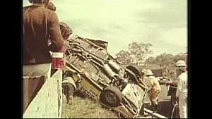 Bill Brown's terrifying roll - 1969 Bathurst 1000