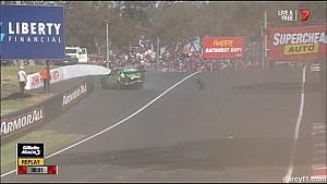 Bathurst 2014 Qual Reynolds Crashes Hard