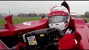 Am Bord mit Vettel in seinem Ferrari