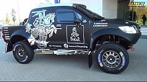 Dakar Rally 2015 - Lithuanian team car presentation - Toyota Hilux
