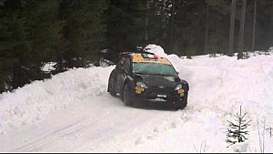 Lorenzo Bertelli crash - Rally Sweden