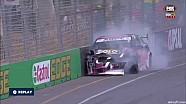 V8 Supercars Dunlop Series 2015 Adelaide Hobson Crash