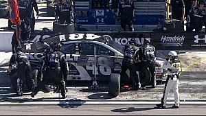 Johnson has multiple tire problems