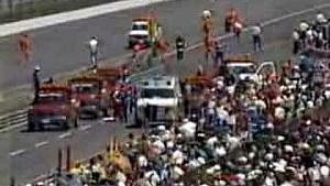 Las 500 de Indianapolis 1989, el choque de Kevin Cogan