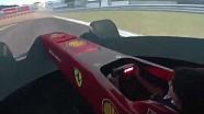 Giulio Delfino al volante del Simulatore Ferrari, vince la gara dei giornalisti