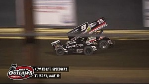 Aspectos destacados: World of Outlaws Sprint Cars New Egypt Speedway 19 de mayo 2015