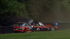 Class leaders wreck out at Lime Rock in the TUSC