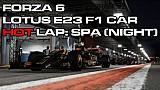 لعبة فورزا موتورسبورت 6 - لفّة حول حلبة سباق في الليل على متن سيارة لوتس للفورمولا واحد