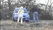 Rally driver forgets his co-driver