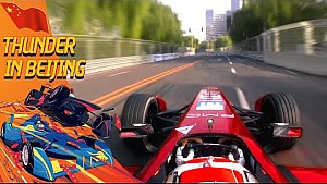 Loic Duval Onboard Lap w/ Dario Franchitti - Beijing ePrix
