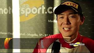Finali Mondiali Ferrari   Podio Gara 1 Trofeo Pirelli APAC AM, le interviste
