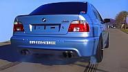 BMW M5 E39 V8 Sound + 0-280 Acceleration Autobahn Onboard Flames Eisenmann Exhaust