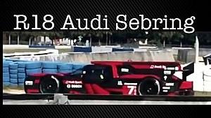 Audi R18 2016, test sul circuito di Sebring