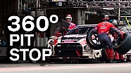 First 360º Pit Stop! GT-R GT3 during Spa 24 Hou
