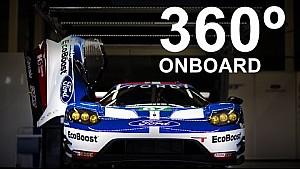 Онборд 360: круг по автодрому в Сильверстоуне на Ford GT