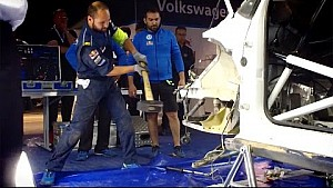 Zeitraffer: VW repariert den Polo WRC