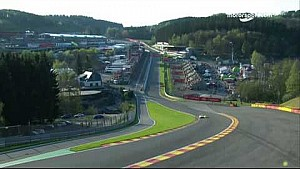 #66 Ford GT crashes massively at Eau Rouge
