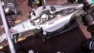Pit stop öncesi Hamilton ve Ricciardo mücadelesi