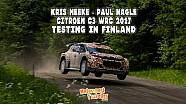Kris Meeke ve Paul Nagle'nin Finlandiya'daki yüksek hız testi