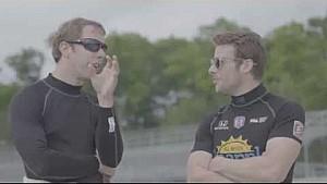 Brad Keselowski testet ein IndyCar