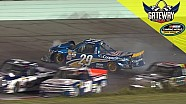 Reddick gets into Nemechek going for the lead causing multi-truck wreck
