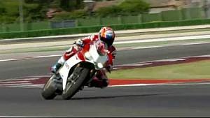 Casey Stoner pilote la nouvelle Ducati 1299 Panigale S Anniversario