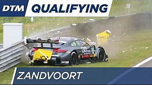 Crash de Götz en qualifications à Zandvoort