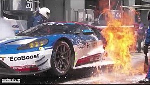 6 Hours of Nürburgring - Ford #67 on fire