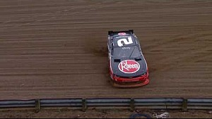 Hornish goes spinning, later runs off course