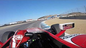 #INDYCAR In-Car Theater: Visor Cam with Indy Lights driver Zach Veach at Mazda Raceway Laguna Seca