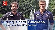 Surfing. Scars. Chickens - Malaysian Grand Prix - Sauber F1 Team