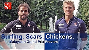 Surfing. Scars. Chickens - Malaysian Grand Prix - Sauber F1 Team