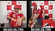 Vettel vs. Räikkönen: Geschenk verpacken
