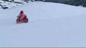 Марк Маркес на мотоцикле MotoGP в Кицбюэле