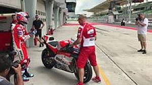 Casey Stoner auf der Ducati GP17