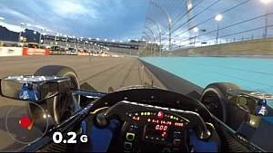 Visor Cam: Graham Rahal no Phoenix Raceway