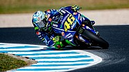 Yamaha tijdens de test op Phillip Island