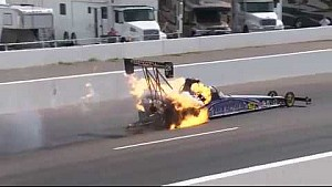 NHRA #WildWednesday Haddock's Big engine Fire in Phoenix