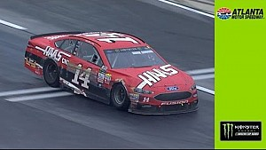 Bowyer bounces off the wall