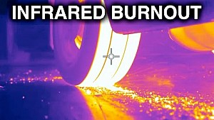 Huge burnout with a thermal camera