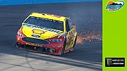 Blown tire ends Joey Logano's day