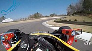 Visor cam: Alexander Rossi at Barber Motorsports Park