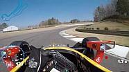 Visor cam: Alexander Rossi en Barber Motorsports Park