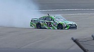Kyle Busch comes to smoky slide in practice