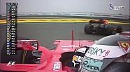 Vettel'in takım arkadaşı Raikkonen'i geçişi