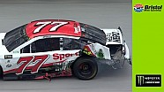 Rookie Erik Jones into the wall at Bristol