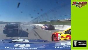 Dale Jr. son anda büyük kazadan kurtuluyor (araç içi)