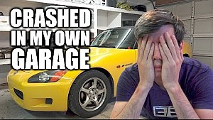 I crashed my S2000 into my own garage