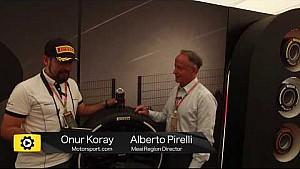 Alberto Pirelli ile İspanya GP padoğunda konuştuk